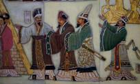 古代官员壁画