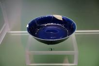 明成化祭蓝釉盘