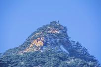 千山唐代古城山峰雪景