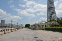 广州珠江广州塔码头广场