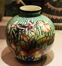 花瓣植物彩罐