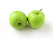 两个绿色的苹果