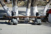 熊雕塑座椅