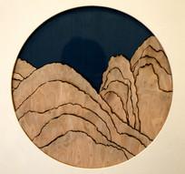 木雕刻装饰画