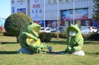 音乐青蛙雕塑