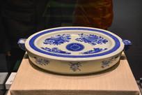 马来西亚博物馆藏品青花热水盘