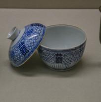 马来西亚博物馆藏品喜字青盖碗