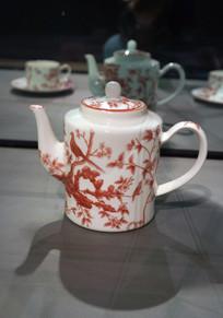 喜鹊登梅茶壶