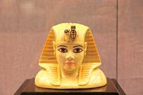 瓷塑古埃及人物头像 埃及赠杨尚昆