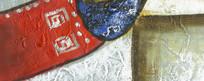 色块抽象油画 酒店宾馆装饰画