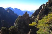 黄山奇石山谷