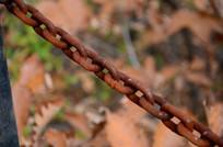 金属生锈链条