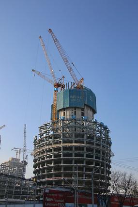 丽泽商务区在建工地