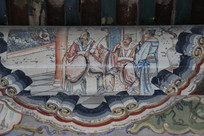 颐和园长廊彩绘画古代皇帝
