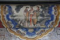 颐和园长廊彩绘画古代皇帝和妃子