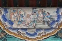 颐和园长廊彩绘画古代将军出征
