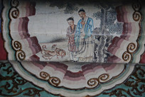 颐和园长廊彩绘画古代人物故事
