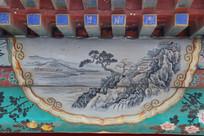 颐和园长廊彩绘画古代山水图