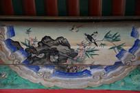 颐和园长廊彩绘画花鸟山石图