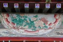 颐和园长廊彩绘画牡丹花开