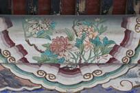 颐和园长廊彩绘画牡丹花图