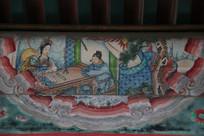 颐和园长廊彩绘画穆桂英挂帅