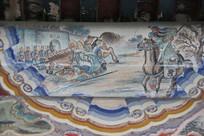 颐和园长廊彩绘画三国人物关公