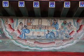 颐和园长廊彩绘画三国人物图
