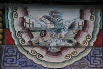 颐和园长廊彩绘画三国人物张飞