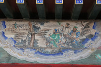 颐和园长廊彩绘画三国志刘关张人物
