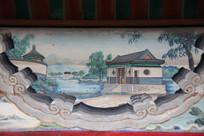 颐和园长廊彩绘画山水亭台