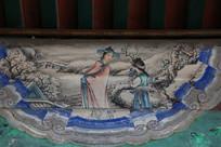 颐和园长廊彩绘画山雪人物图