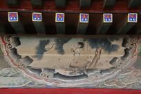 颐和园长廊彩绘画松鹤图
