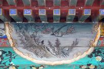 颐和园长廊彩绘画喜上眉梢
