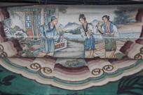 颐和园长廊彩绘画西厢记人物