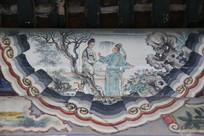 颐和园长廊彩绘画西厢记书生