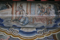 颐和园长廊彩绘画西游记人物