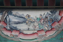 颐和园长廊彩绘画西游记唐僧师徒孙悟空带路