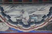 颐和园长廊彩绘画雪夜骑驴