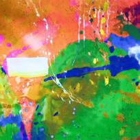 印花花型 水彩数码印花 定位花
