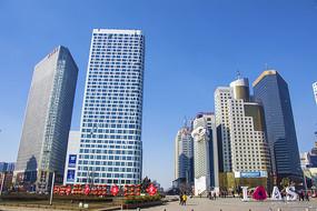 鞍山胜利广场高层建筑群