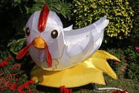 白色母鸡花灯