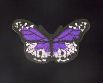 黑紫色刺绣蝴蝶