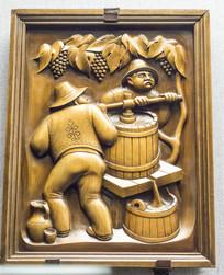 木雕花酿葡萄酒