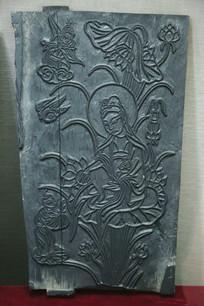 木雕刻版观音佛像