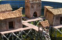 古老的手工艺术木屋