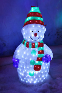 漂亮的雪人