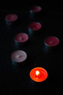 漂亮的圆蜡烛