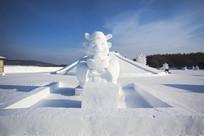 财神爷雪雕
