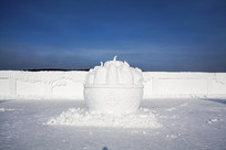 五谷丰登雪雕